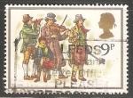 Stamps United Kingdom -  Navidad 1978