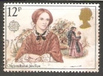 Stamps United Kingdom -  Charlotte Brontë