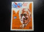 Sellos de America - Cuba -  congreso sindical mundial lazaro peña