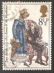 Stamps United Kingdom -  Emma and Mr. Woodhouse (Emma)