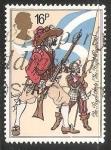 Sellos de Europa - Reino Unido -  Musketeer and Pikeman (The Royal Scots, 1633)