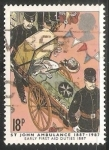 Stamps United Kingdom -  Primera ambulancia 1884-1984