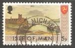 Sellos de Europa - Isla de Man -  Castillo