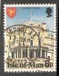 Sellos del Mundo : Europa : Isla_de_Man : Grey Heron (Ardea cinerea),