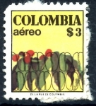 Stamps : America : Colombia :  COLOMBIA_SCOTT C640.01 CAFE. $0.20