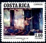 Sellos de America - Costa Rica -  COSTA RICA_SCOTT 295 MUERTE DE JUAN SANTAMARIA. $0,20