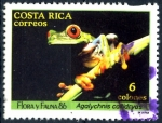 Stamps Costa Rica -  COSTA RICA_SCOTT 381.01 AGALYCHNIS CALLIDRYAS. $0,20