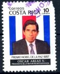 Stamps : America : Costa_Rica :  COSTA RICA_SCOTT 395 PRESIDENTE OSCAR ARIAS, NOBEL DE LA PAZ. $0.20