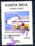 Sellos de America - Costa Rica -  COSTA RICA_SCOTT C913.02 40º AEROLINEA LACSA. $0.30