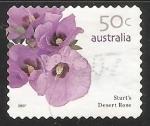 Sellos de Oceania - Australia -  Rosa del desierto