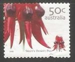 Sellos de Oceania - Australia -  Guisante del desierto