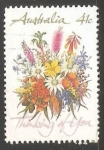 Stamps Australia -  Flores silvestres