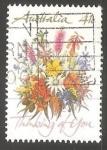 Sellos de Oceania - Australia -  Flores silvestres