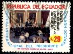 Stamps : America : Ecuador :  ECUADOR_SCOTT 1051.01 POLITICA INT DEL PRESIDENTE OSVALDO HURTADO. $1,10