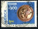 Sellos de America - Ecuador -  ECUADOR_SCOTT 1228 UPAE, CERAMICA PRECOLOMBINA. $1,60