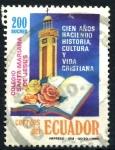 Sellos de America - Ecuador -  ECUADOR_SCOTT 1240 CENT. DEL COLEGIO SANTA MARIANA, LIBRO Y TORRE CHURCH. $0,60