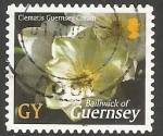 Stamps United Kingdom -  Clematis Guernsey Cream