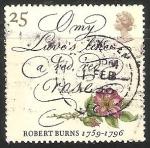 Sellos de Europa - Reino Unido -  Robert Burns 1759-1796