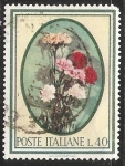 Stamps Italy -   Claveles Dianthus