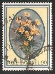 Stamps Italy -  margaritas estampilla