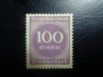 Sellos de Europa - Alemania -  sello 100 marcos de reich aleman