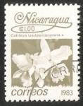 Stamps Nicaragua -  Cattleya lueddemanniana