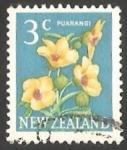 Stamps New Zealand -  Puarangi (Hibiscus).