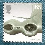 Stamps United Kingdom -  50 años de lineas aéreas - Avión de Havilland Comet de BOAC
