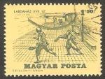 Stamps Hungary -  1739 - Partido de tenis