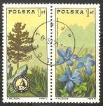 Sellos de Europa - Polonia -  Tatra Presidencia y genciana de primavera