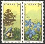 Stamps Poland -  Tatra Presidencia y genciana de primavera