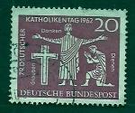 Stamps Germany -  navidad  1962