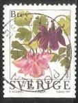 Sellos de Europa - Suecia -  Aquilegia vulgaris