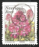 Sellos de Europa - Suecia -  Orquidea