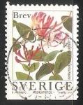 Sellos de Europa - Suecia -  Flores de jardin