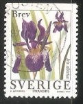 Sellos del Mundo : Europa : Suecia : Iris sibirica