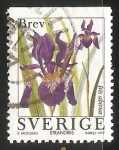 Sellos de Europa - Suecia -  Iris sibirica