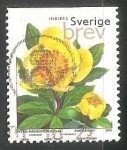 Stamps : Europe : Sweden :  Peony Azufre