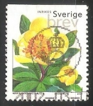 Stamps Sweden -  Peony Azufre