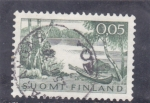 Stamps : Europe : Finland :  PAISAJE DE UN LAGO