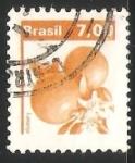 Sellos de America - Brasil -  Naranja