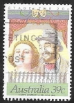 Sellos de Oceania - Australia -  1118 - Gladys Moncrieff, cantante, y Roy Rene, actor de cine