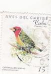 Sellos de America - Cuba -  AVES DEL CARIBE-CAPITAN CABECIRROJO