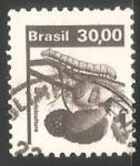 Stamps Brazil -  Gusano de seda