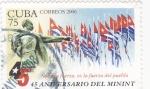 Sellos de America - Cuba -  45 ANIVERSARIO DEL MININT