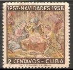Stamps Cuba -  navidad 1957-1958