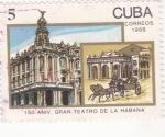 Sellos de America - Cuba -  150 ANIVERSARIO GRAN TEATRO DE LA HABANA
