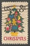Sellos de America - Estados Unidos -  Arbol de navidad decorado
