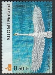 Stamps Finland -  1559 - Una cigueña