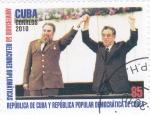 Sellos de America - Cuba -  50 ANIVER.RELACIONES DIPLOMÁTICAS CUBA Y RPD.DE COREA
